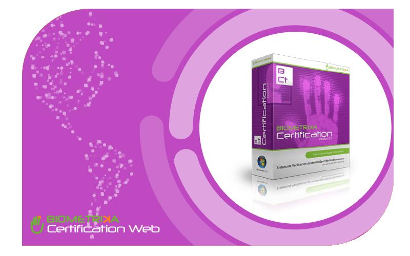 Biometrika Certificación Web x 25 - ID: 1226316